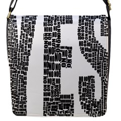 Yes No Typography Type Text Words Flap Messenger Bag (s)