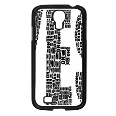 Yes No Typography Type Text Words Samsung Galaxy S4 I9500/ I9505 Case (black)