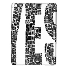 Yes No Typography Type Text Words Ipad Air Hardshell Cases