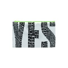 Yes No Typography Type Text Words Cosmetic Bag (xs)