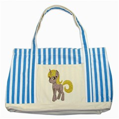 Unicorn Narwhal Mythical One Horned Striped Blue Tote Bag
