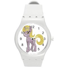 Unicorn Narwhal Mythical One Horned Round Plastic Sport Watch (m)