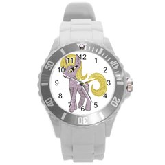 Unicorn Narwhal Mythical One Horned Round Plastic Sport Watch (l) by Simbadda