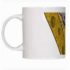 Cheese Rat Mouse Mice Food Cheesy White Mugs