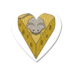 Cheese Rat Mouse Mice Food Cheesy Heart Magnet