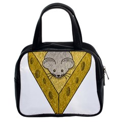 Cheese Rat Mouse Mice Food Cheesy Classic Handbags (2 Sides)