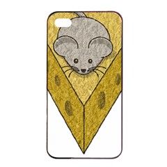 Cheese Rat Mouse Mice Food Cheesy Apple Iphone 4/4s Seamless Case (black)