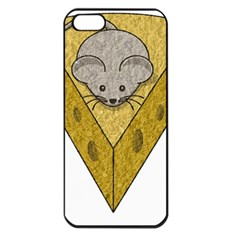 Cheese Rat Mouse Mice Food Cheesy Apple Iphone 5 Seamless Case (black)