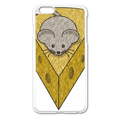 Cheese Rat Mouse Mice Food Cheesy Apple Iphone 6 Plus/6s Plus Enamel White Case