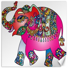 Elephant Pachyderm Animal Canvas 20  X 20   by Simbadda