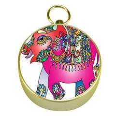 Elephant Pachyderm Animal Gold Compasses