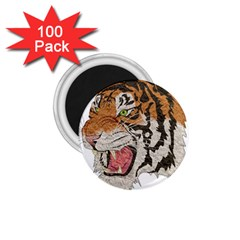 Tiger Tiger Png Lion Animal 1 75  Magnets (100 Pack)  by Simbadda
