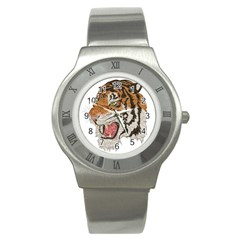 Tiger Tiger Png Lion Animal Stainless Steel Watch