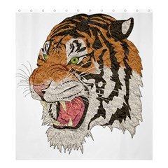 Tiger Tiger Png Lion Animal Shower Curtain 66  X 72  (large)