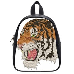 Tiger Tiger Png Lion Animal School Bag (small)