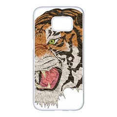 Tiger Tiger Png Lion Animal Samsung Galaxy S7 Edge White Seamless Case
