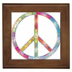 Flourish Decorative Peace Sign Framed Tiles