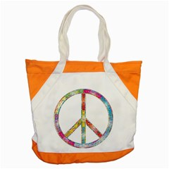 Flourish Decorative Peace Sign Accent Tote Bag by Simbadda
