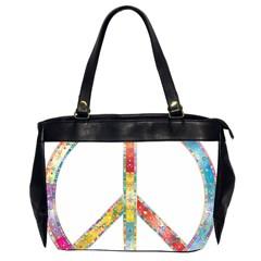 Flourish Decorative Peace Sign Office Handbags (2 Sides)