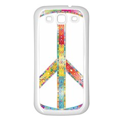 Flourish Decorative Peace Sign Samsung Galaxy S3 Back Case (white)