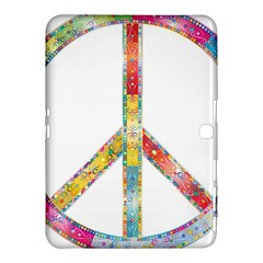 Flourish Decorative Peace Sign Samsung Galaxy Tab 4 (10 1 ) Hardshell Case