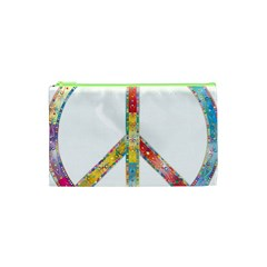 Flourish Decorative Peace Sign Cosmetic Bag (xs)