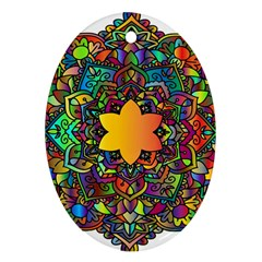 Mandala Floral Flower Abstract Ornament (oval)