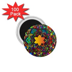Mandala Floral Flower Abstract 1 75  Magnets (100 Pack)  by Simbadda