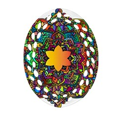 Mandala Floral Flower Abstract Ornament (oval Filigree) by Simbadda