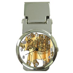 Gold Elephant Pachyderm Money Clip Watches