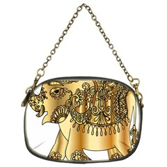 Gold Elephant Pachyderm Chain Purses (one Side)