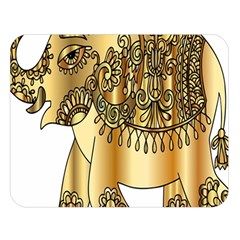 Gold Elephant Pachyderm Double Sided Flano Blanket (large)