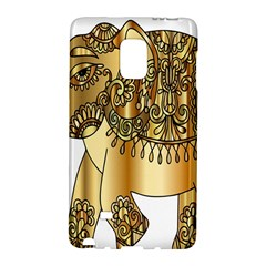 Gold Elephant Pachyderm Galaxy Note Edge by Simbadda