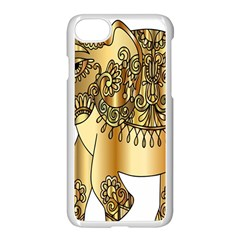 Gold Elephant Pachyderm Apple Iphone 7 Seamless Case (white)