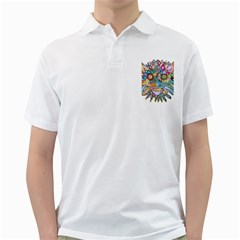 Anthropomorphic Flower Floral Plant Golf Shirts