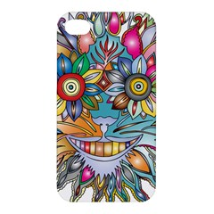 Anthropomorphic Flower Floral Plant Apple Iphone 4/4s Hardshell Case