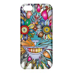 Anthropomorphic Flower Floral Plant Apple Iphone 5c Hardshell Case