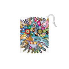 Anthropomorphic Flower Floral Plant Drawstring Pouches (xs)