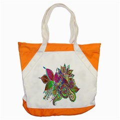 Floral Flowers Ornamental Accent Tote Bag by Simbadda