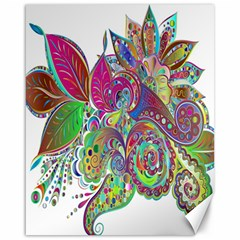 Floral Flowers Ornamental Canvas 16  X 20