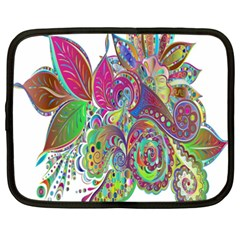 Floral Flowers Ornamental Netbook Case (xxl)