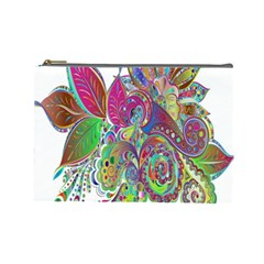 Floral Flowers Ornamental Cosmetic Bag (large)