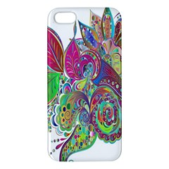 Floral Flowers Ornamental Apple Iphone 5 Premium Hardshell Case by Simbadda