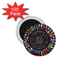 Mandala Decorative Ornamental 1 75  Magnets (100 Pack)  by Simbadda
