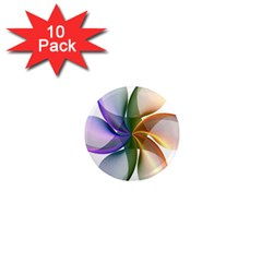 Abstract Geometric Line Art 1  Mini Magnet (10 Pack)