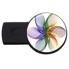 Abstract Geometric Line Art Usb Flash Drive Round (4 Gb)