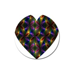 Heart Love Passion Abstract Art Magnet 3  (round)
