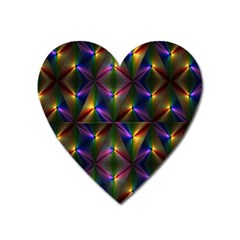 Heart Love Passion Abstract Art Heart Magnet by Simbadda