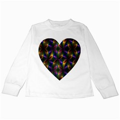 Heart Love Passion Abstract Art Kids Long Sleeve T Shirts
