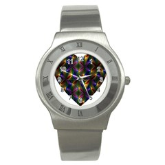 Heart Love Passion Abstract Art Stainless Steel Watch